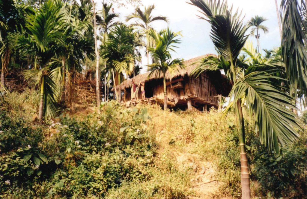 Traditional house of Toto Tribe
