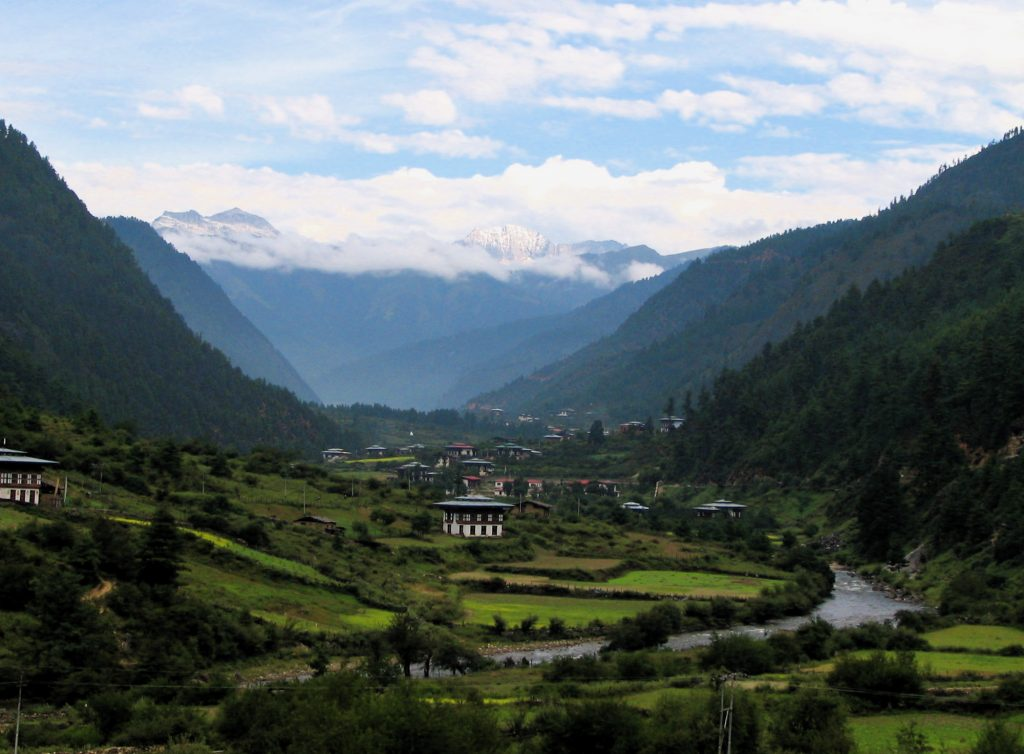 The scenic Haa Valley of Bhutan