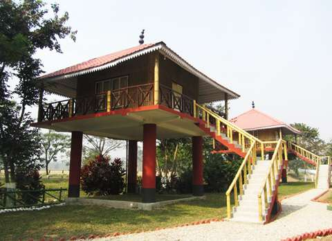 Cottages at Gorumara Rhino Camp, Ramsai