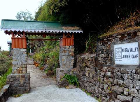 Entrance at Neora Valley Jungle Camp